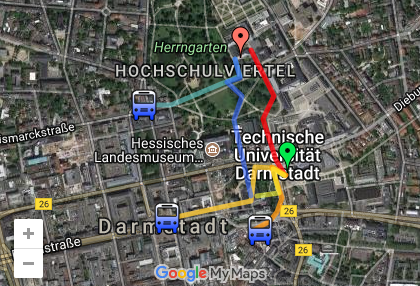 Maps for conference attendees   ACM ITiCSE 2011 - June 27-29  2011  Darmstadt  Germany